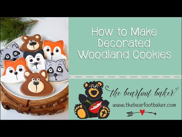 Simple Decorated Woodland Cookies | The Bearfoot Baker