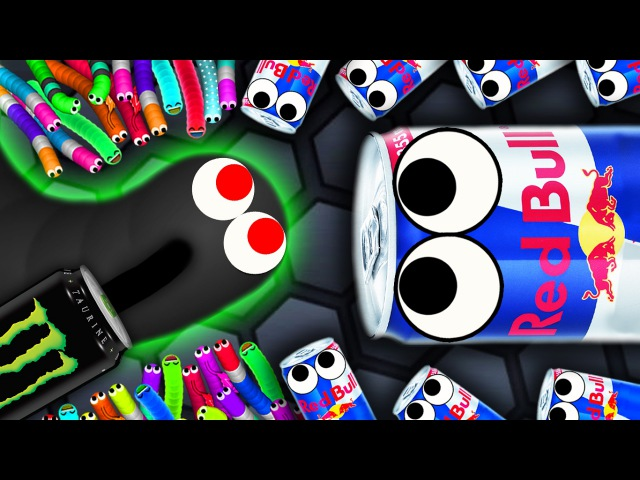 Slither.io - 600 REDBULL SNAKES vs 1 MONSTER SNAKE! Slitherio Gameplay! (Slitherio Funny Moments)