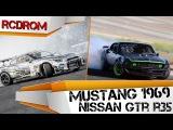 Дрифт машинки на радиоуправлении. Mustang 1969 vs Nissan GT-R R35. Обзор