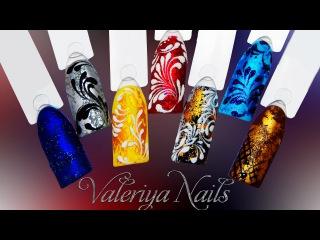 Самый лёгкий дизайн ногтей c фольгой для литья