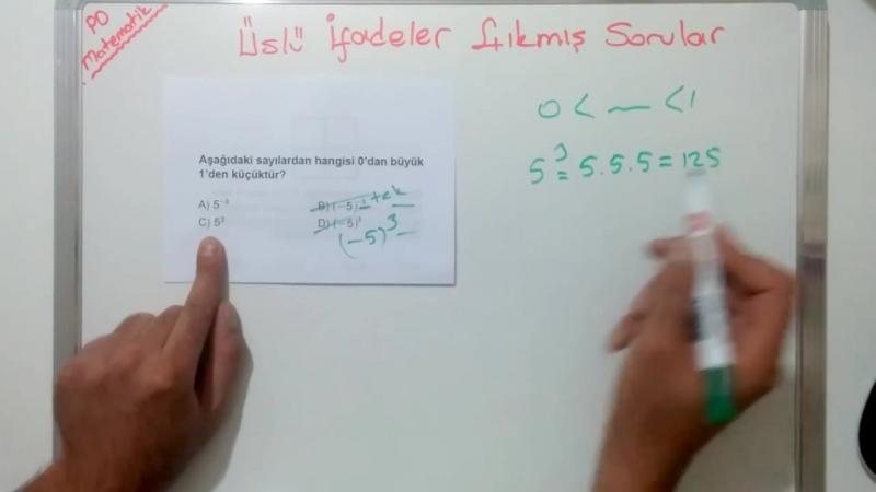 TEOG Üslü Sayılar Çıkmış Soru Çözümleri (TEOG 1. SINAV)