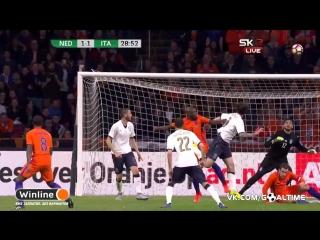 Нидерланды - Италия 1:2. Обзор товарищеского матча (2017).