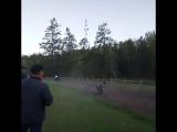 Лошади наехали на человека