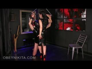 Mistress Nikita - Lick My Rubber Dress