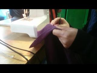 Карман на подкладке невидимым швом 4