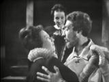 Сергей Юрский (Шекспир), Эмилия Попова (королева) и Наталья Тенякова (Смуглая Леди) в телеспектакле