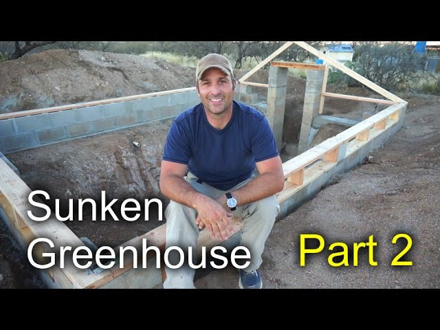 Sunken Greenhouse Part 2 - Block, Concrete and subframe