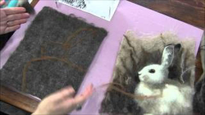 Needle Felted 2D Snowshoe Hare Part One: Layout and Background