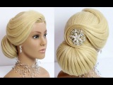 Hairstyles for long hair tutorial. Wedding prom updo