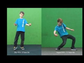 Сравнение: танец после двух лет практики (700 часов тренировок)