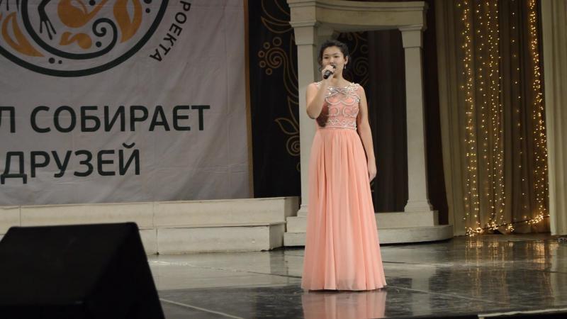 Алина Байгильдина на конкурсе.