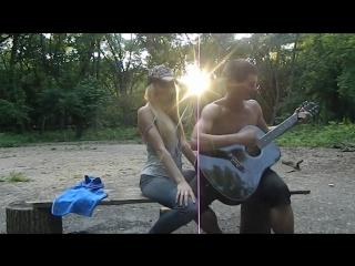 Песня под гитару. А По Темным Улицам Гуляет Дождь