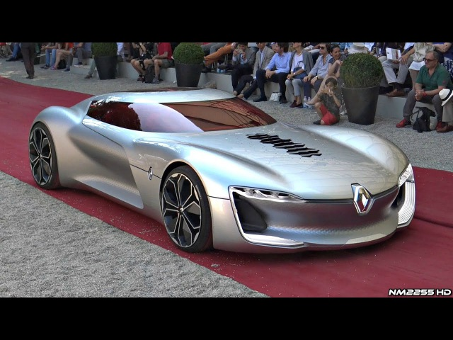 Renault Trezor Concept - Driving, Overview, Unique Features Loading Into a Truck!