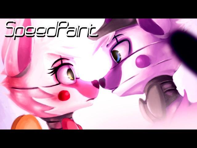 F.Foxy x F.Freddy (SPEEDPaint) Loveee!! in the Terror!! ◕ ω ◕ FNAF Sister Location
