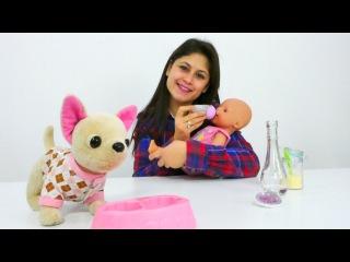 Ayşe Gül'e bebek maması yapıyor🍼Oyuncak bebek bakımı👶#Kızoyunları ve oyuncakları