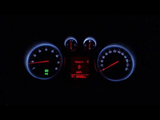 Замер разгона 0-100 Opel Astra J GTC 1.4t с помощью SpeedLog