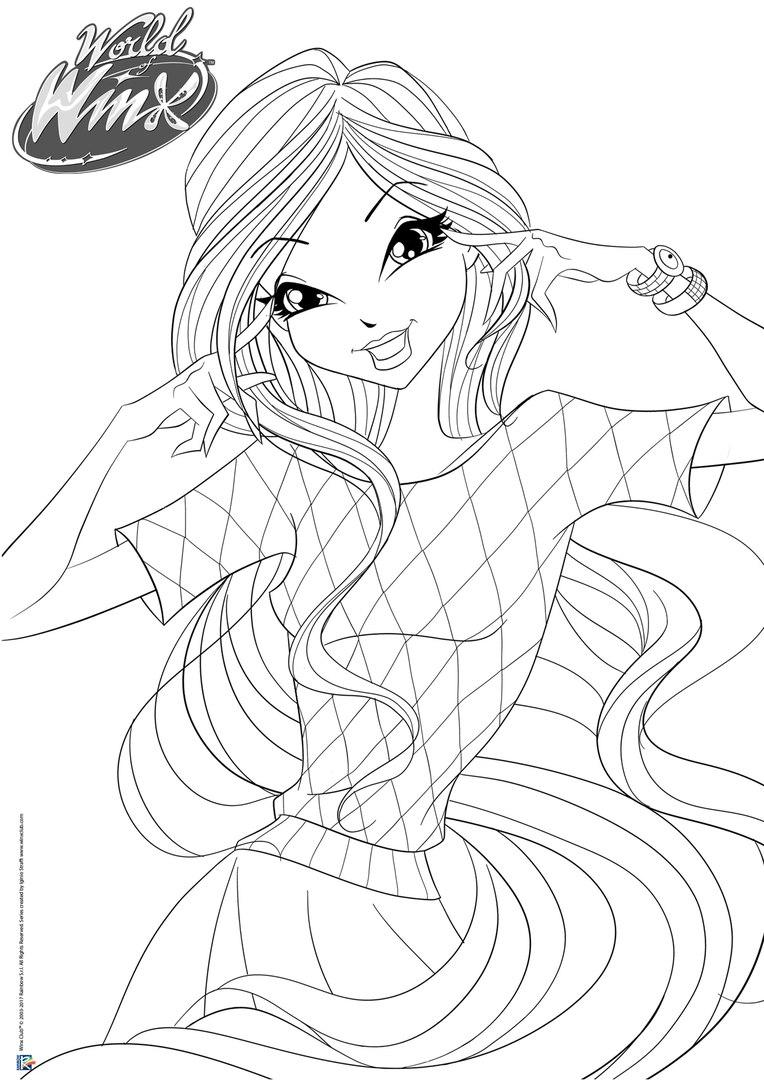 World of winx da colorare for Disegni winx sirenix da colorare
