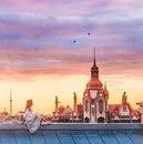 Вид на Дом городских учреждений на закате. Естественная красота летнего Петербурга…