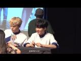 he almost drank from the fan's water bottle lmao