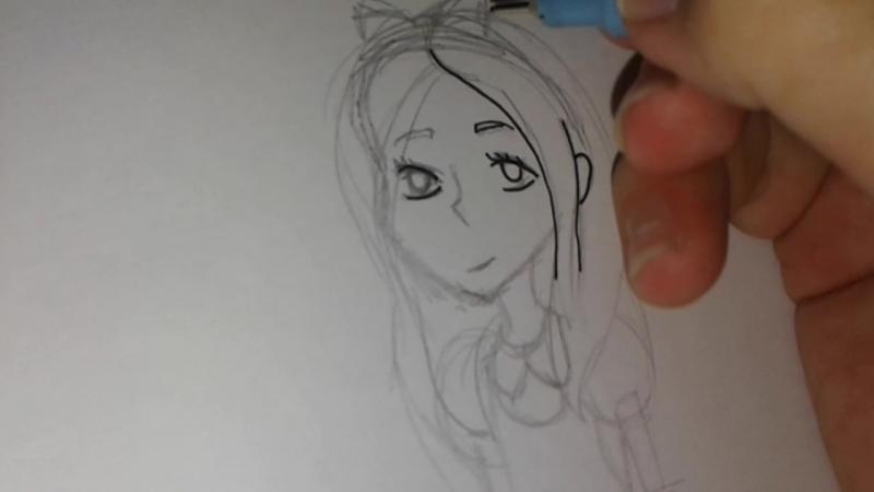 Процесс рисования (Алиса в стране чудес)