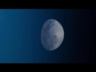 Лунный закат с борта Международной космической станции