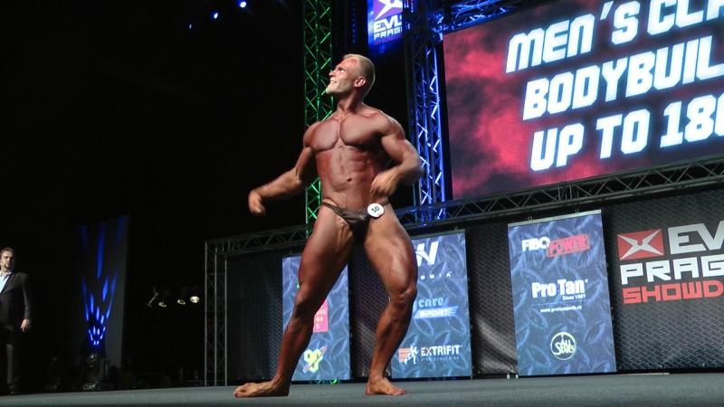 Posing Aleh Babinich Classic Bodybuilding upto 180cm @ EVLs Prague Showdown 2016[1]