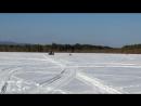 катание на тюбинге за снегоходом