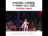 Amazing Chinese 7 Years Old Girl  Popping Dance on Dance Vision vol.5  Danceproject.info