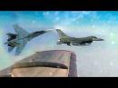 Российский Су 27 не позволил истребителю F 16 ВВС НАТО приблизиться к самолету Шой...