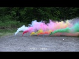 Smoke bombs Triplex Orange Yellow White Green Blue Red