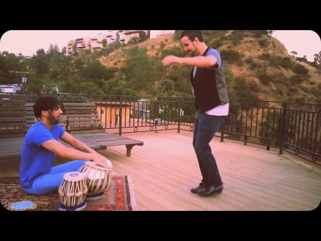 Manuel Guitierrez (Flamenco dance) Salar Nader (Tabla) Hollywood Hills practice session II