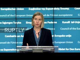 Бельгия: Могерини подтверждает позицию ЕС в отношении двух государств для Израиля-Палестины.
