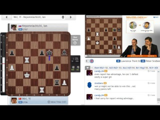 Wei Yi wins a difficult ending VS Ian Nepomniachtchi (Tata Steel Masters 2017 - ROUND3)