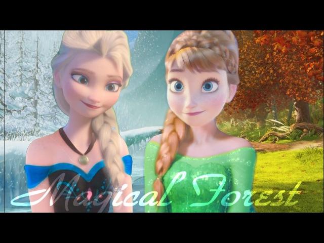 Эльза и Анна||Волшебный Лес||Anna and Elsa||Magical Forest