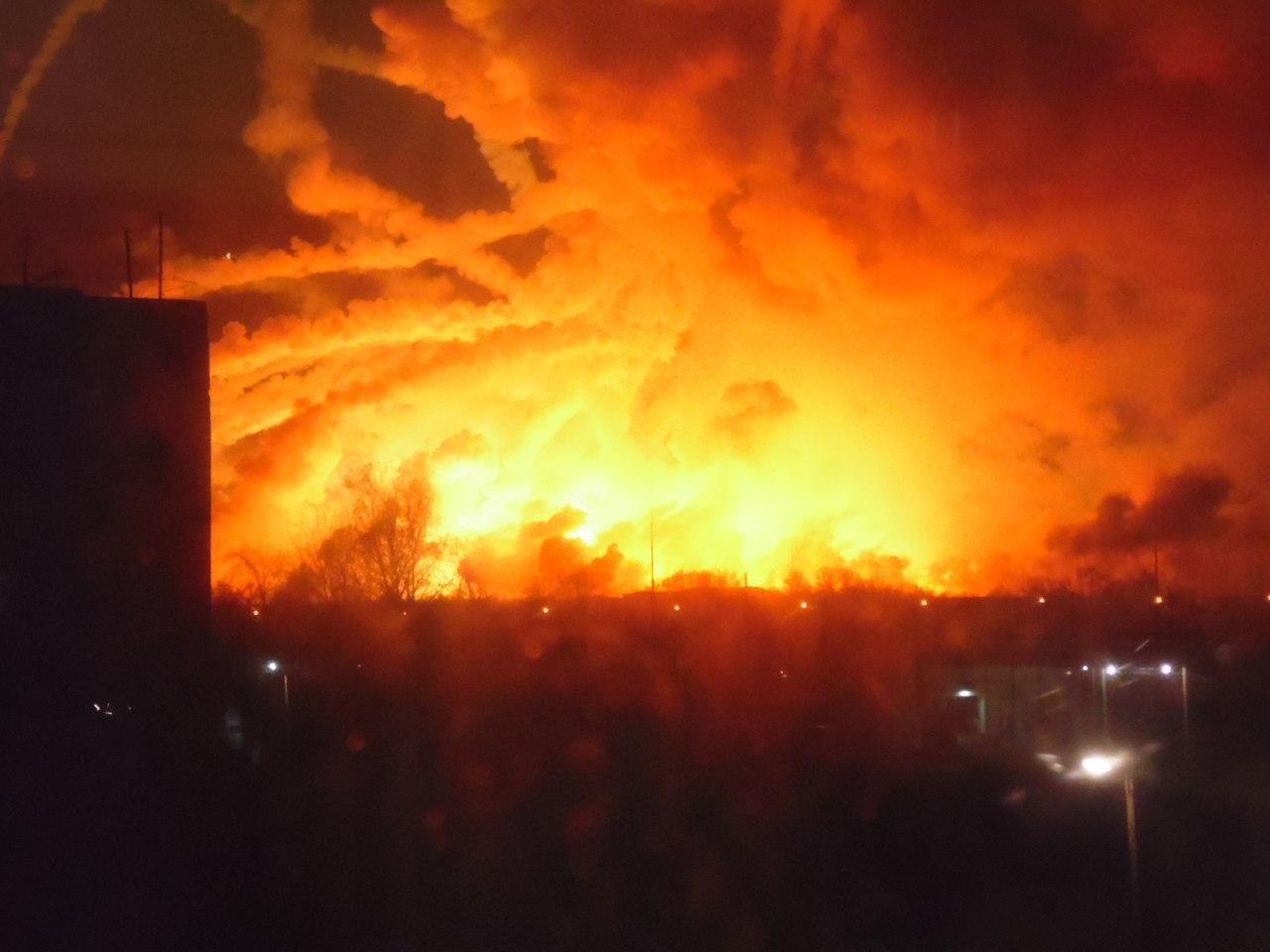 Полеты вокруг горящих складов в Балаклее запрещены в радиусе 40 км