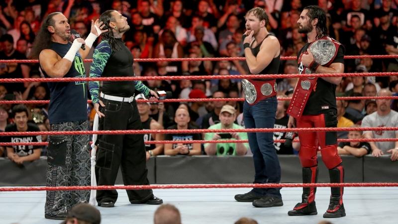 (WWEWM) Сет Роллинс и Дин Эмброуз пр. Братья Харди (21.08.2017, RAW)