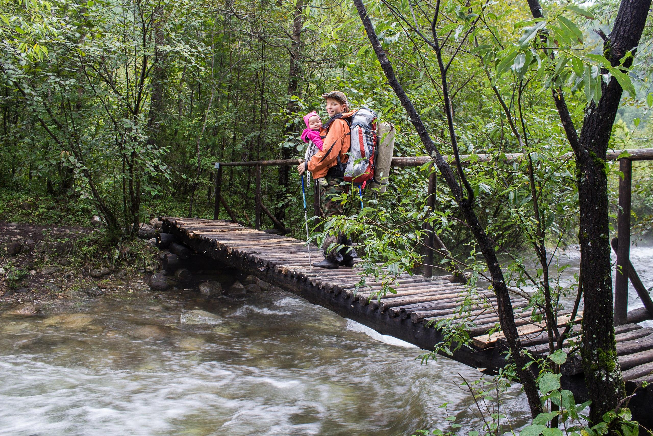 Первый мостик через Слюдянку