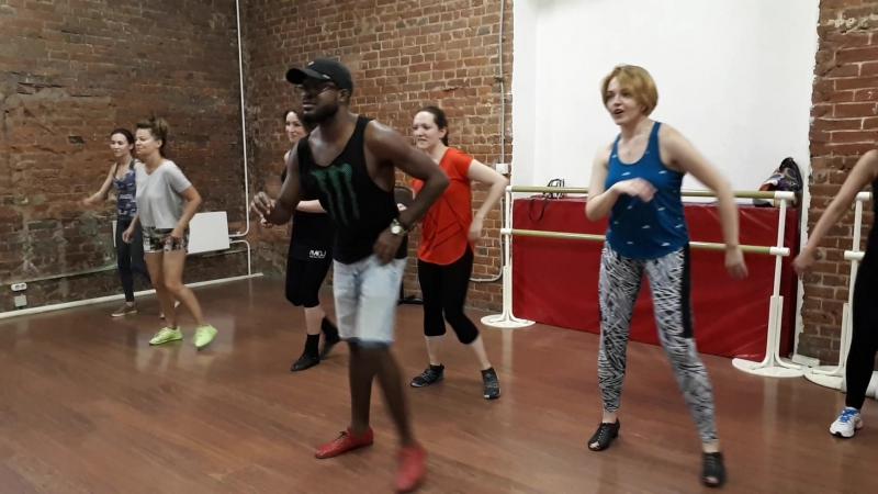 Афропластика в тимбе. Ориша Очун. САЛЬСА-ПРОКАЧ💪 с Адонисом Сантьяго в Dance Station, 29.07.17