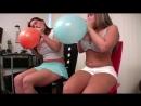 Busty Megan  Vanessa Balloons blow to pops