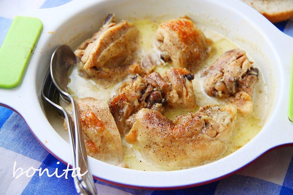 Курица в сырном соусе из плавленного сыра