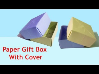 How to make Paper BOX That Opens and Closes | Origami Gift Box with Cover | Origami Box with Lid