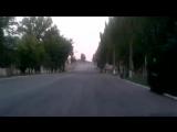Углегорск.29 июля,2014.Пустой вечерний город.Центральная улица.