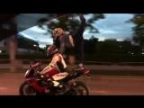 Аня на мотоцикле  г.Пермь