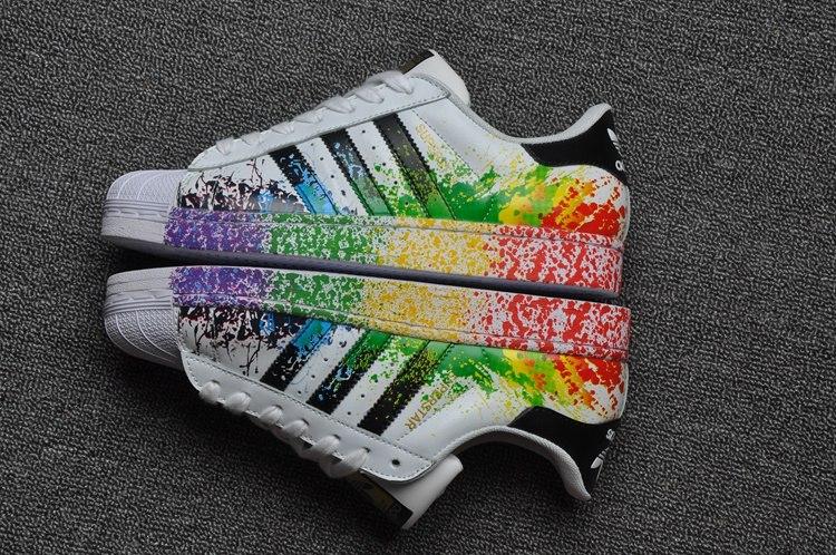adidas superstar con pintura