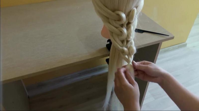 Коса из резинок..❤Сердечки💚 Как сделать косу из резинок в виде сердечек💗Простой способ👍