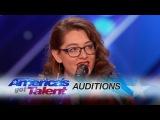 Mandy Harvey Deaf Singer Earns Simon's Golden Buzzer With Original Song - America's Got Talent 2017