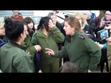Dancing with the female soldiers at IDF Base in the West Bank.MP4