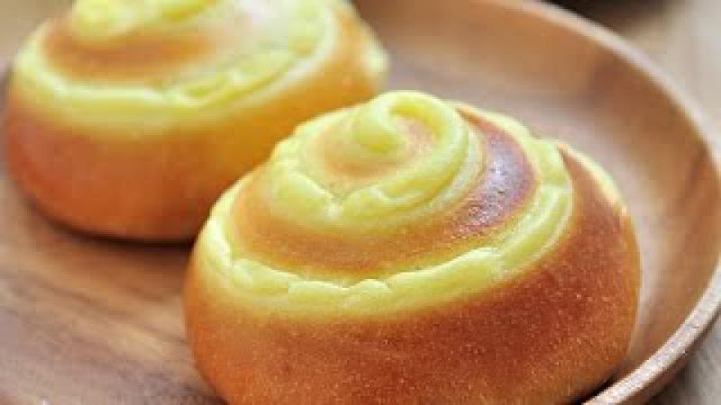卡士達(克林姆)麵包。Custard Bread
