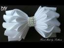 Бантик из ленты КАНЗАШИ DIY Bows made of ribbon Kanzashi Белый