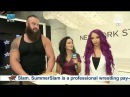 SBMKV_Video Awkward Interview Sasha Banks Braun Strowman At NYSE